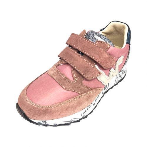 Balducci sneakers rosa brillantini fronte