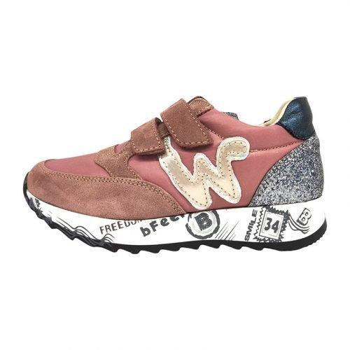 Balducci sneakers rosa brillantini sinistra