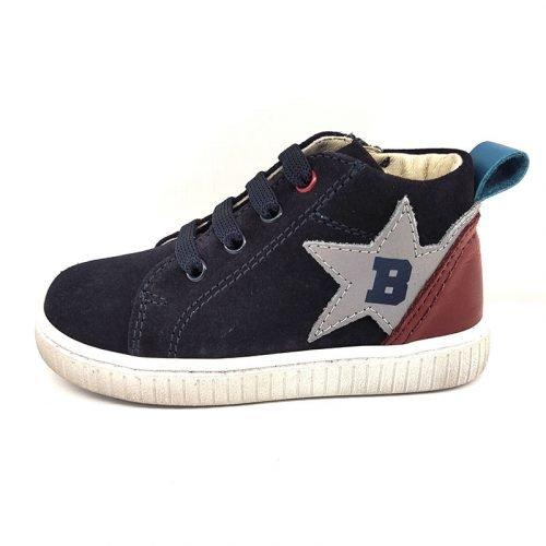 Balducci sneaker alta blu sinistra